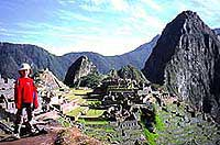 The Incan ruins of Machu Pichu