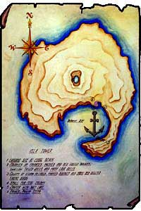 Map of Tower or Genovesa Island, Galapagos